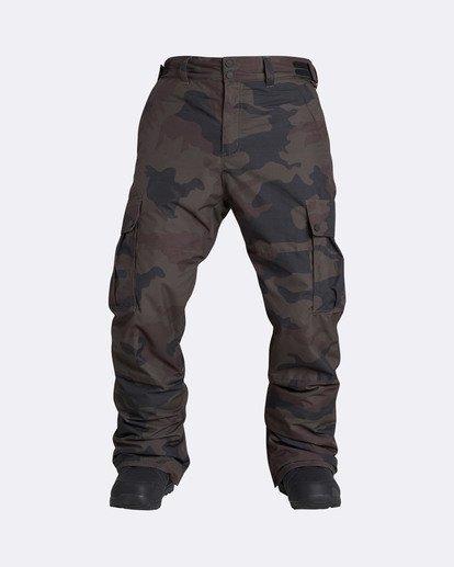 7 Men's Transport Outerwear Snow Pants Green MSNPQTRA Billabong
