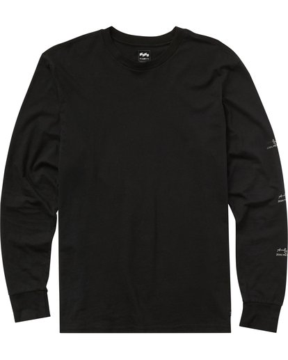 0 Men's New Flame Long Sleeve Tee Black MT43PBNF Billabong