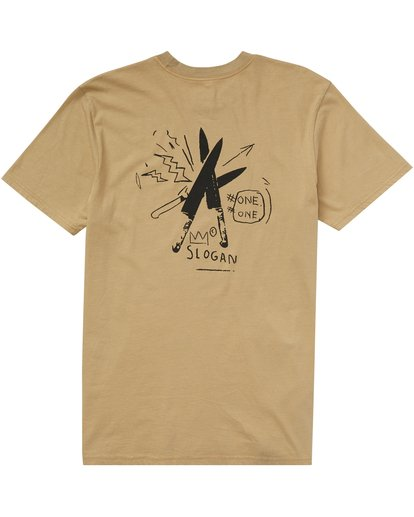 1 Slogan Tee Beige MT45PBSL Billabong