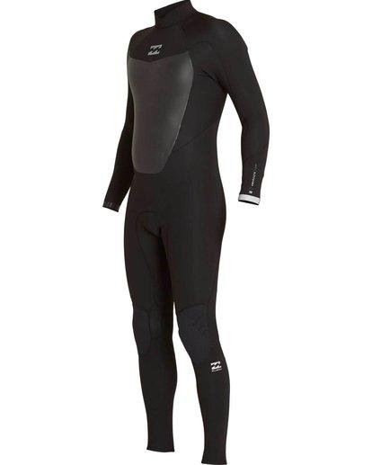 0 5/4 Absolute Comp Back Zip Fullsuit Black MWFULAB5 Billabong