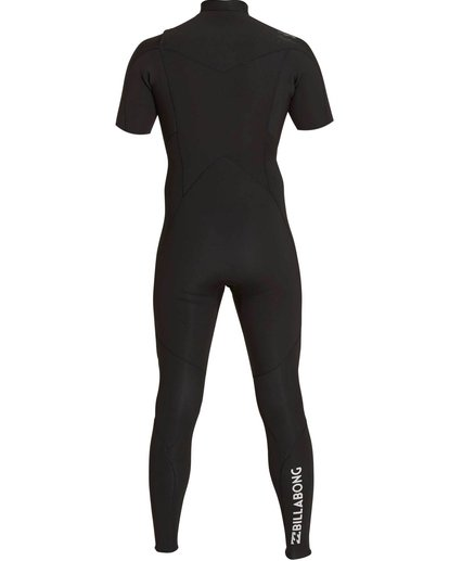 1 2/2 Absolute Chest Zip Short Sleeve Wetsuit Black MWFULAC2 Billabong