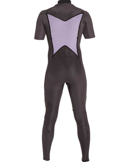 3 2/2 Absolute Chest Zip Short Sleeve Wetsuit Black MWFULAC2 Billabong