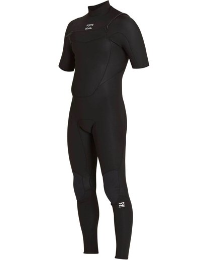 0 2/2 Absolute Chest Zip Short Sleeve Wetsuit Black MWFULAC2 Billabong