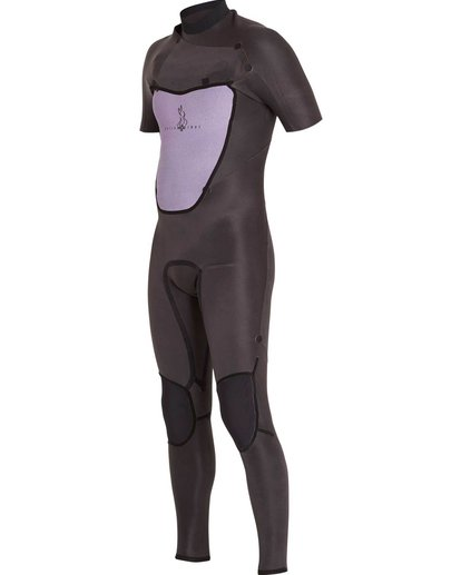 2 2/2 Absolute Chest Zip Short Sleeve Wetsuit Black MWFULAC2 Billabong