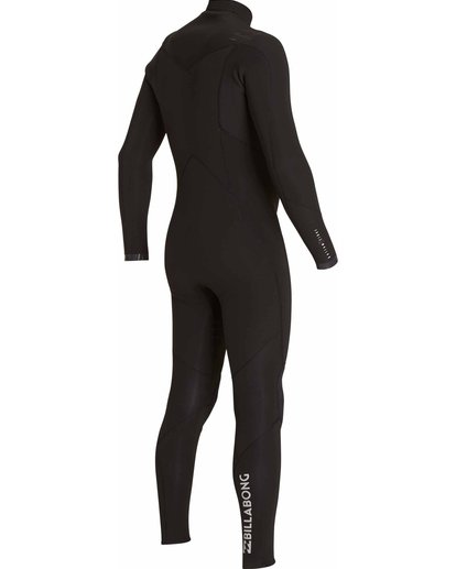 3 4/3 Absolute Comp Chest Zip Fullsuit Black MWFULAC4 Billabong