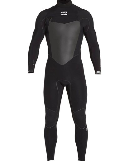 1 4/3 Furnace Carbon X Chest Zip Fullsuit Black MWFULCX4 Billabong