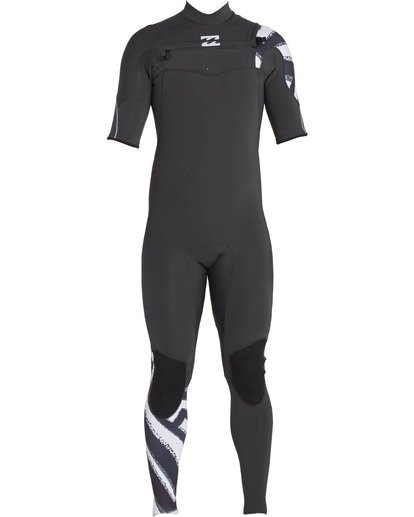 1 2/2 Furnace Carbon Comp Short Sleeve Fullsuit Black MWFULFC2 Billabong