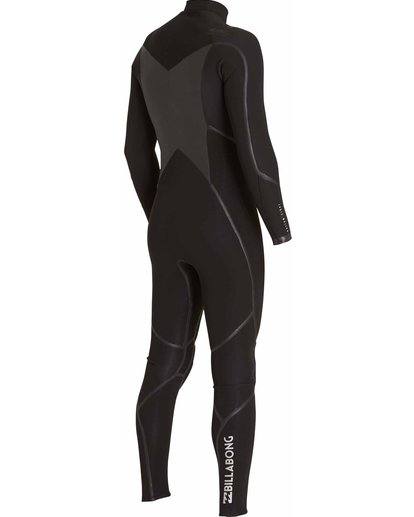 4 4/3 Absolute X Chest Zip Fullsuit Black MWFULXC4 Billabong