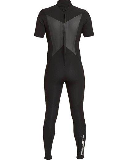 3 2/2 Absolute Comp Back Zip Short Sleeve Springsuit Black MWFUNBG2 Billabong