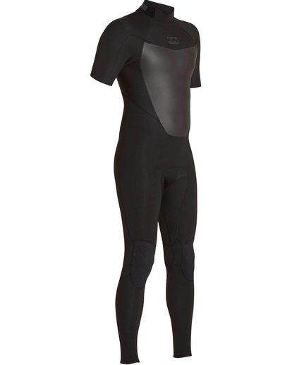 2 2/2 Absolute Comp Back Zip Short Sleeve Springsuit Black MWFUNBG2 Billabong