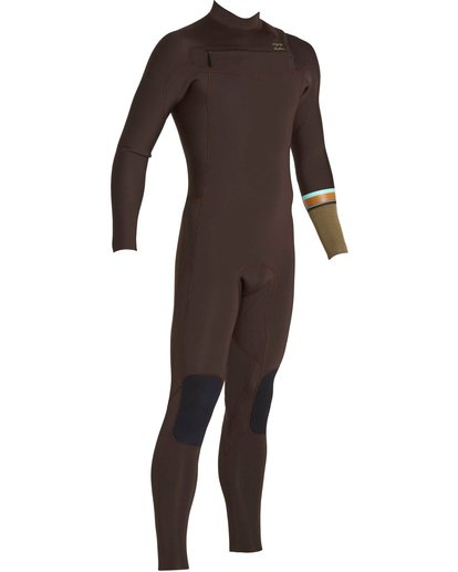 3 3/2 Revolution DBah Chest Zip Fullsuit Brown MWFUNBR3 Billabong