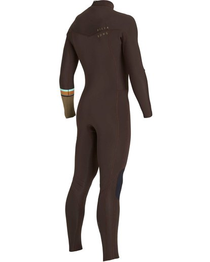 4 3/2 Revolution DBah Chest Zip Fullsuit Brown MWFUNBR3 Billabong