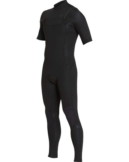2 2/2 Furnace Absolute GBS Short Sleeve Chest Zip Black MWFUQBC2 Billabong