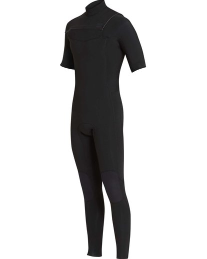 0 2/2 Furnace Revolution Chestzip Short Sleeve Black MWFUQBV2 Billabong