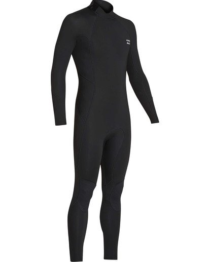 2 3/2 Absolute Back Zip Flatlock Long Sleeve Fullsuit Black MWFUTBL3 Billabong