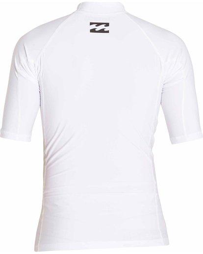 1 All Day Wave Short Sleeve Wetshirt White MWLYJICS Billabong