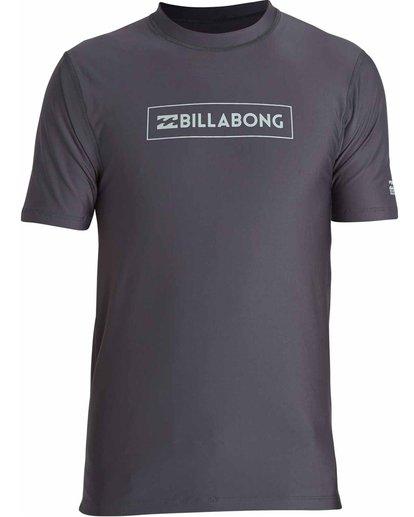0 All Day Unity Short Sleeve Wetshirt Grey MWLYJTUS Billabong