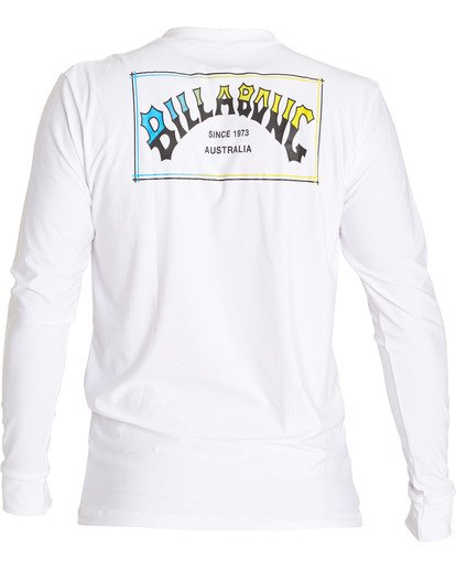 3 Boxarch Loose Fit Long Sleeve Rashguard White MWLYLBAL Billabong