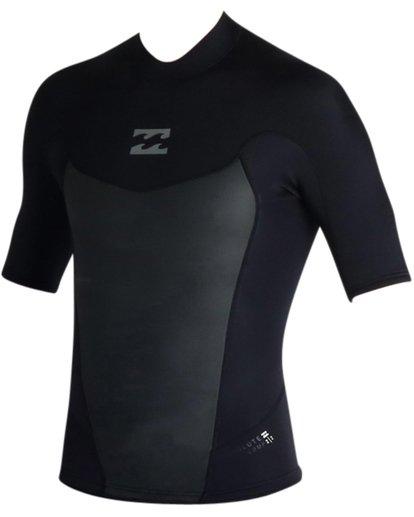 1 2mm Absolute Short Sleeve Wetsuit Jacket Black MWSHJASS Billabong