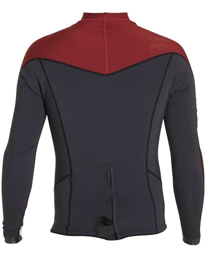 1 2/2 Absolute Comp Long Sleeve Jacket Red MWSHNBAL Billabong