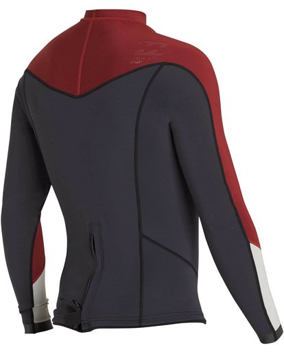 4 2/2 Absolute Comp Long Sleeve Jacket Red MWSHNBAL Billabong