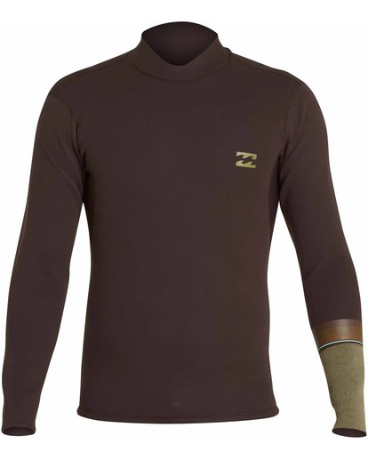 0 2mm Revolution DBah Reversible Wetsuit Jacket Brown MWSHNBD2 Billabong