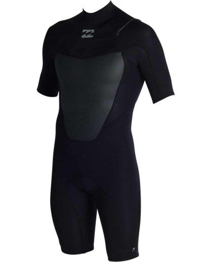 1 2mm Absolute Chest Zip Short Sleeve Springsuit Black MWSPJACS Billabong
