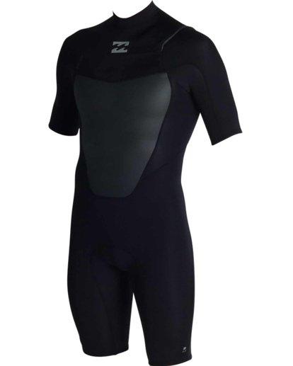 0 2mm Absolute Chest Zip Short Sleeve Springsuit Black MWSPJACS Billabong