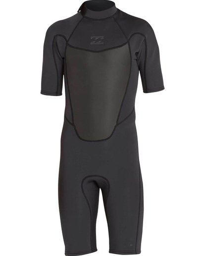 1 2mm Absolute Comp Short Sleeve Springsuit Black MWSPNBAB Billabong