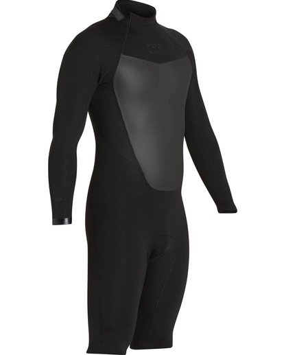 2 2mm Absolute Comp Back Zip Springsuit Black MWSPNBAL Billabong