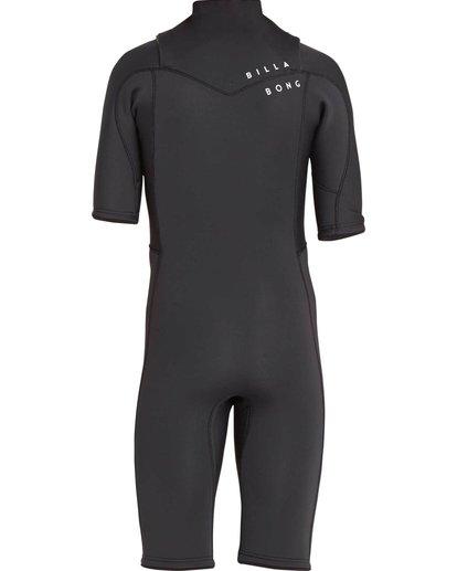0 2/2 Revolution GBS Short Sleeve Chest Zip Springsuit Black MWSPNBRS Billabong