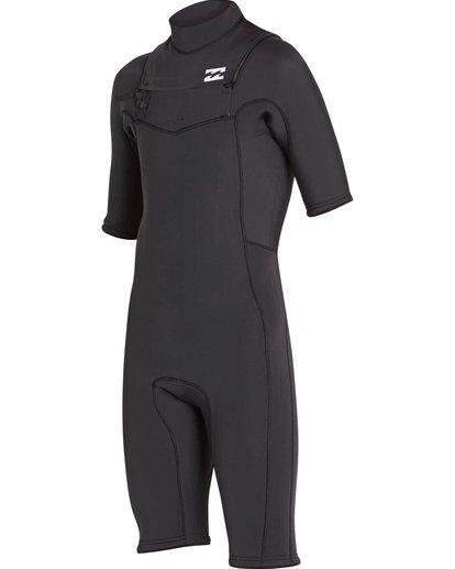 1 2/2 Revolution GBS Short Sleeve Chest Zip Springsuit Black MWSPNBRS Billabong