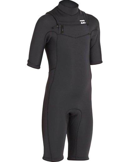 2 2/2 Revolution GBS Short Sleeve Chest Zip Springsuit Black MWSPNBRS Billabong