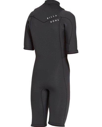 3 2/2 Revolution GBS Short Sleeve Chest Zip Springsuit Black MWSPNBRS Billabong