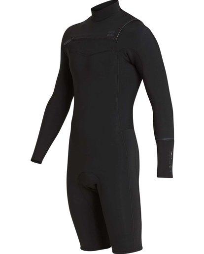 2 2/2 Revolution Chest Zip Long Sleeve GBS Springsuit Black MWSPQBRL Billabong