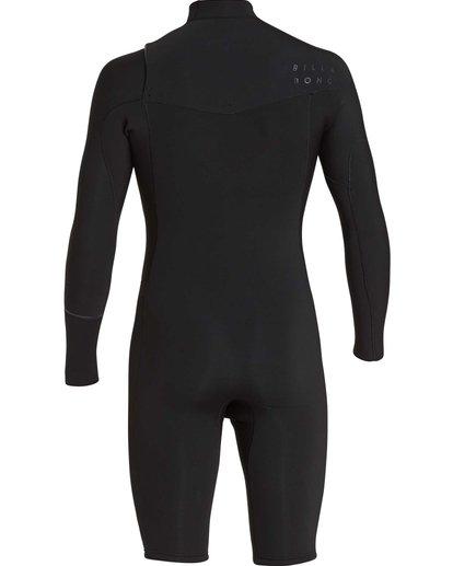 5 2/2 Revolution Chest Zip Long Sleeve GBS Springsuit Black MWSPQBRL Billabong