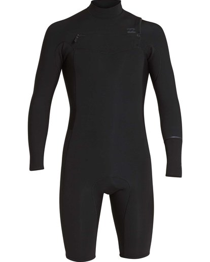 1 2/2 Revolution Chest Zip Long Sleeve GBS Springsuit Black MWSPQBRL Billabong