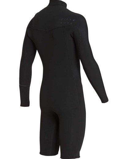 3 2/2 Revolution Chest Zip Long Sleeve GBS Springsuit Black MWSPQBRL Billabong