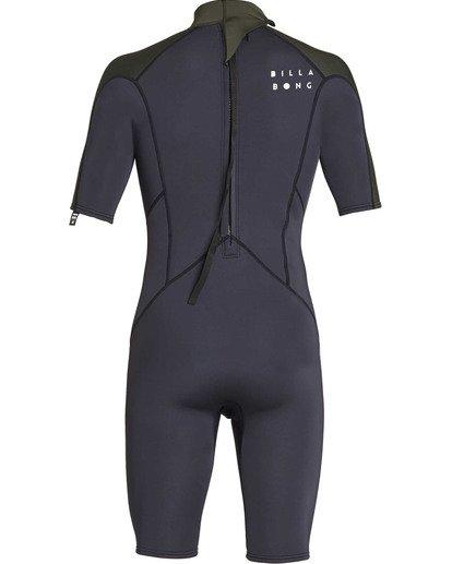 4 2mm Absolute Back Zip Short Sleeve Flatlock Spring Suit Black MWSPTBAB Billabong