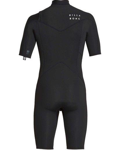 4 2mm Absolute Chest Zip Short Sleeve GBS Springsuit Black MWSPTBAG Billabong