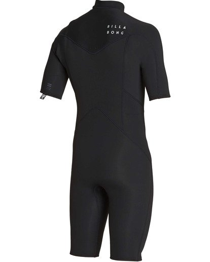 3 2mm Absolute Chest Zip Short Sleeve GBS Springsuit Black MWSPTBAG Billabong
