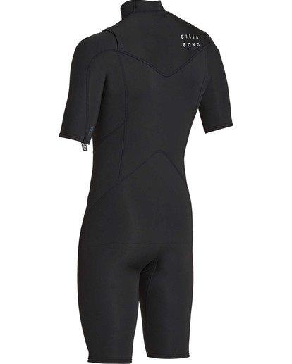 5 2mm Absolute Chest Zip Short Sleeve GBS Springsuit Black MWSPTBAG Billabong