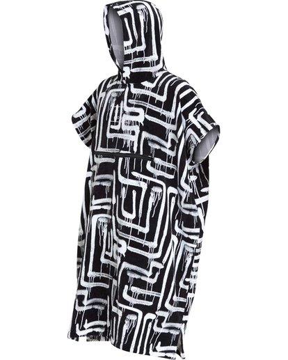 0 Hooded Poncho Black MWTWQBHT Billabong