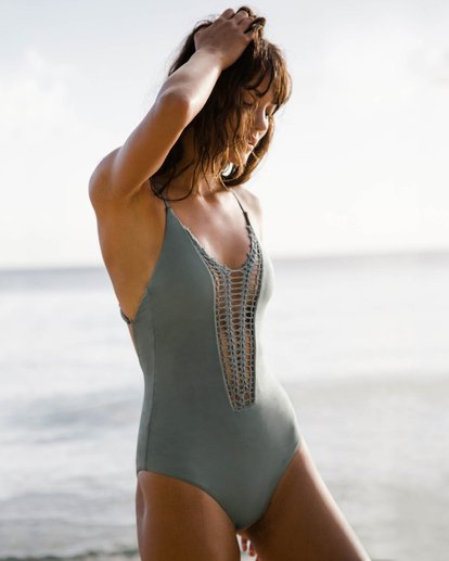 0 Hippie Hooray One Piece Swim Green X111EHIP Billabong