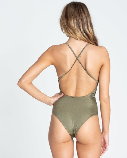 2 Hippie Hooray One Piece Swim Green X111EHIP Billabong