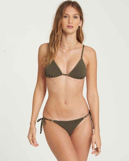 2 No Hurry Tie Isla Bikini Bottom Green XB19QBNO Billabong