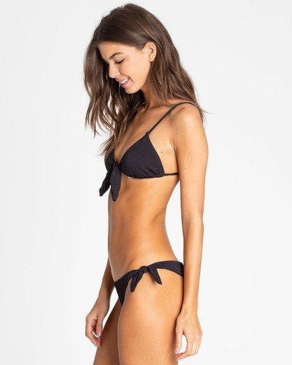 1 Sweet Sands Tanga Tie-Side Bikini Bottom Black XB36TBSW Billabong