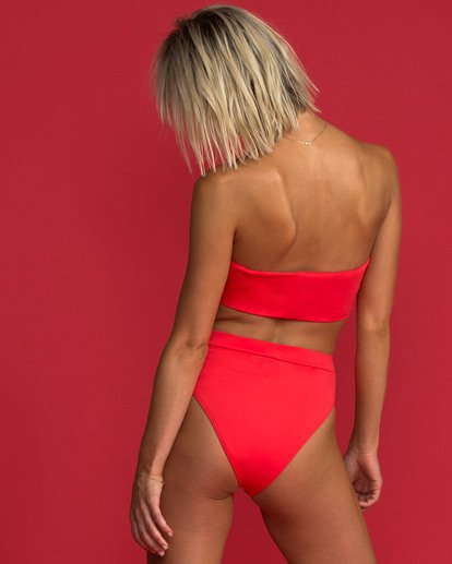 3 Sol Searcher Rise High-Waisted Bikini Bottom Red XB56TBSO Billabong