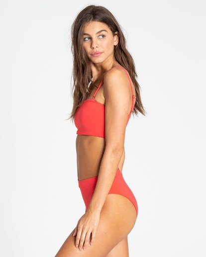 2 Sol Searcher Rise High-Waisted Bikini Bottom Red XB56TBSO Billabong