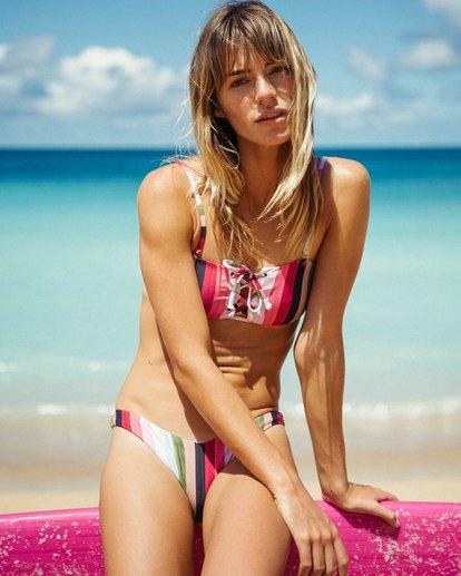 0 Sun Quest Lace Up Bandeau Bikini Top  XT02QBSU Billabong